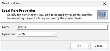 Adding a local printer port
