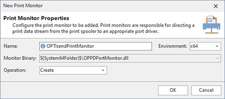 Adding a print monitor