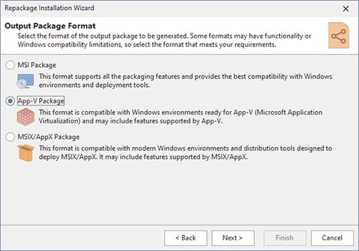 App-V Packaging - MSI Package Builder