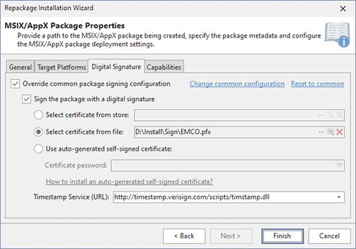 Configuring Digital Signature