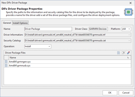Adding a driver package to be pre-installed during an MSI package installation