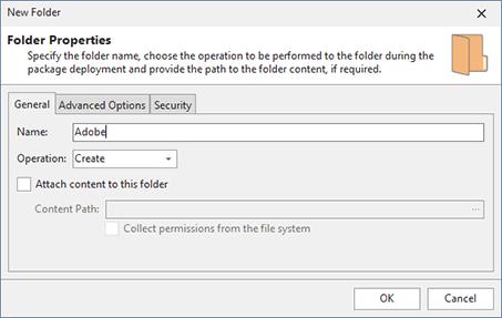 Adding a folder modification to a project