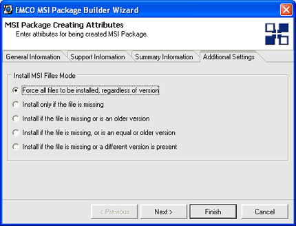 File versioning options