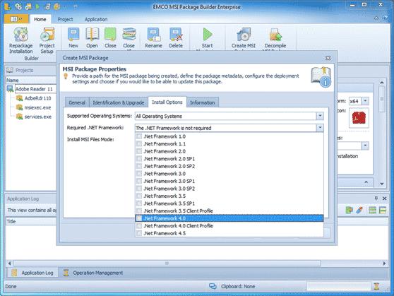 .NET Framework dependency detection