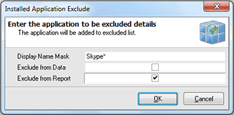 Adding the criteria to the applications exclude list