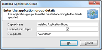 Adding a new installed applications group