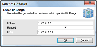 IP Range to create a report for