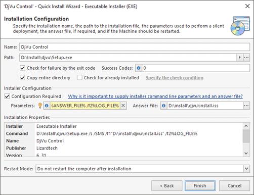 Software Deployment configuration