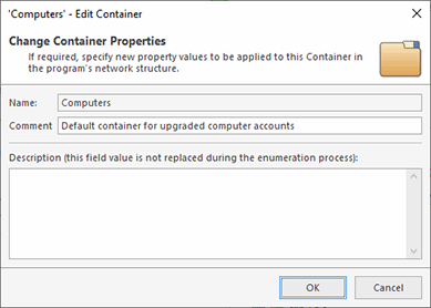 Active Directory Container Properties
