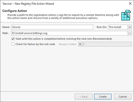 Import of Registry File Configuration