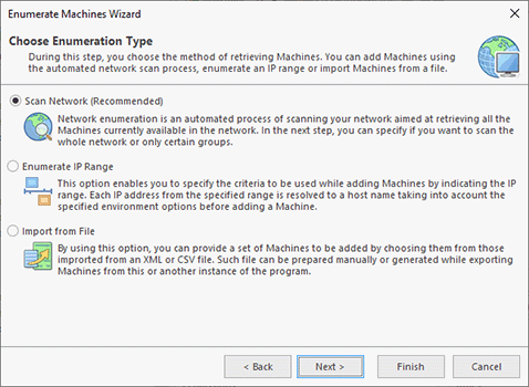Choosing the enumeration type