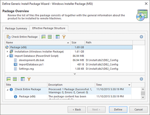 Entire Package Structure for Windows Installer Package