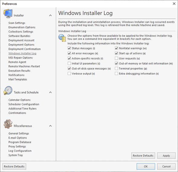 Configuring Windows Installer Log