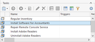 The created Deploy Software task in the Tasks area