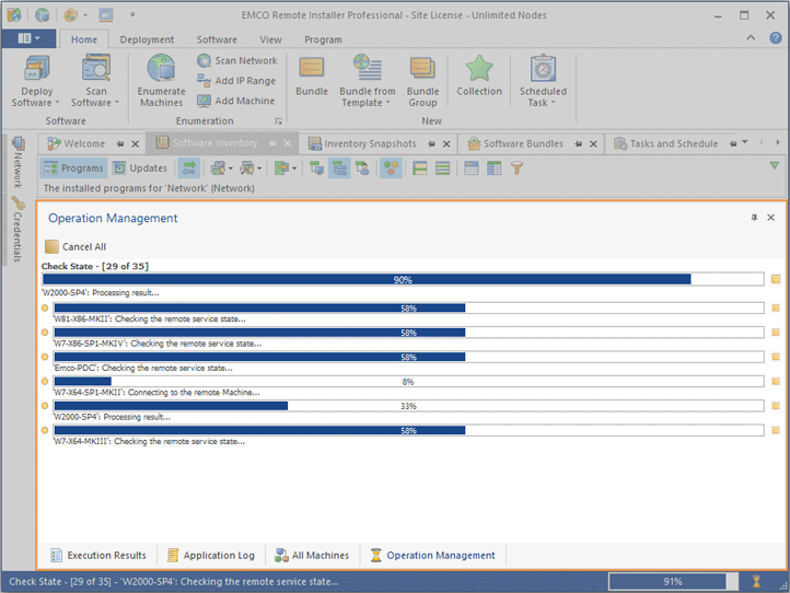 The Operation Management view