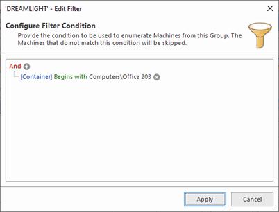 Enumeration filter conditions