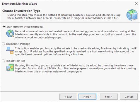 Network enumeration options