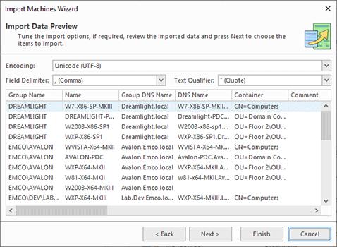 CSV file preview